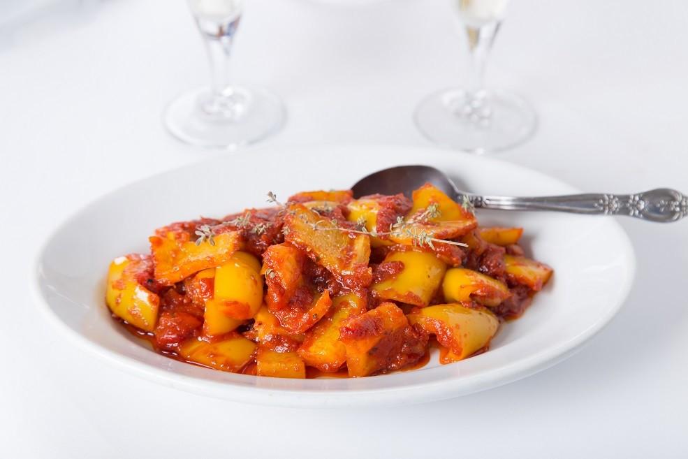 Ricetta Contorno Peperoni in Agrodolce con Pomodoro
