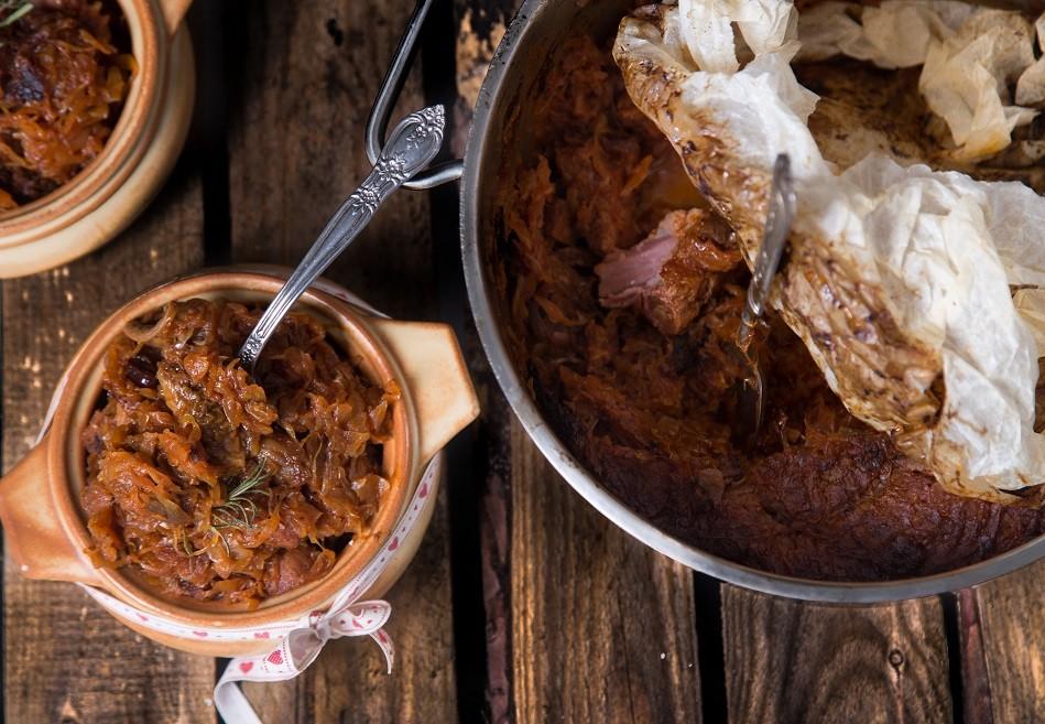 Ricetta Stufato Natalizio di Crauti e Carne