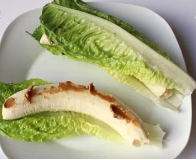 Panino di lattuga con banana -vegan-