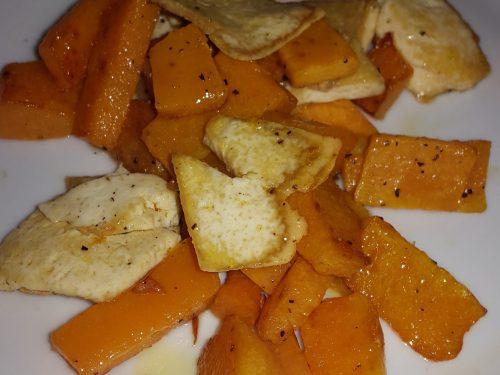 Zucca con tofu alla piastra -vegan-