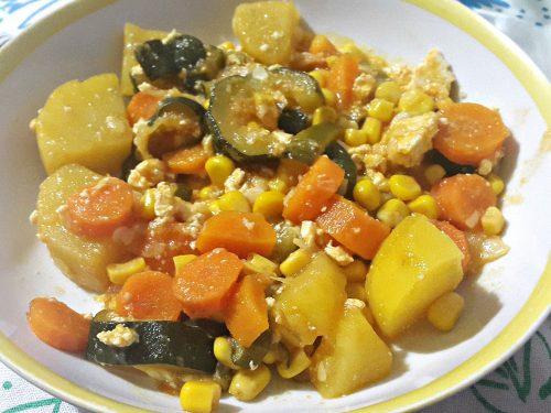 Verdure con tofu -vegan-