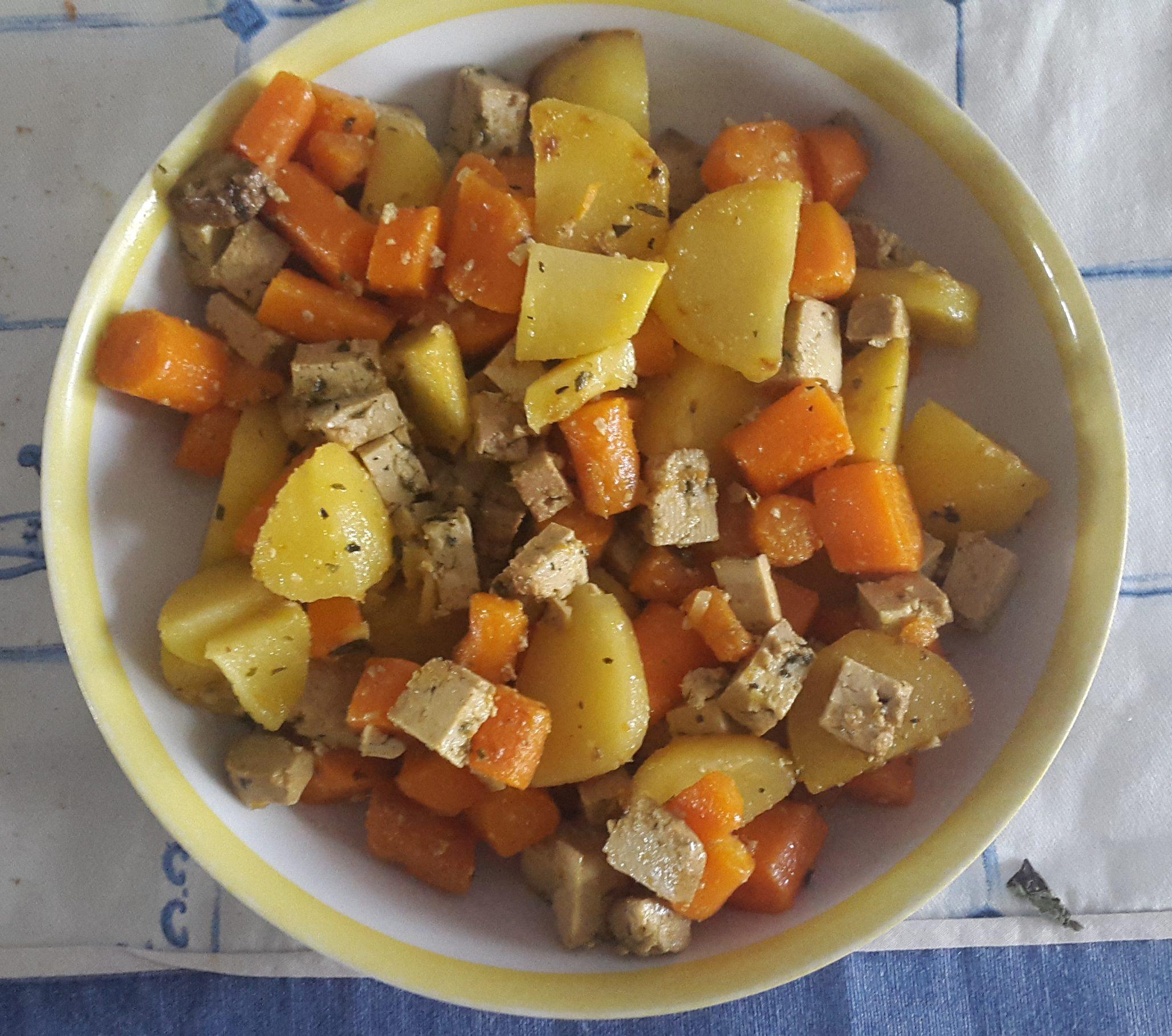 verdure tofu affumicato