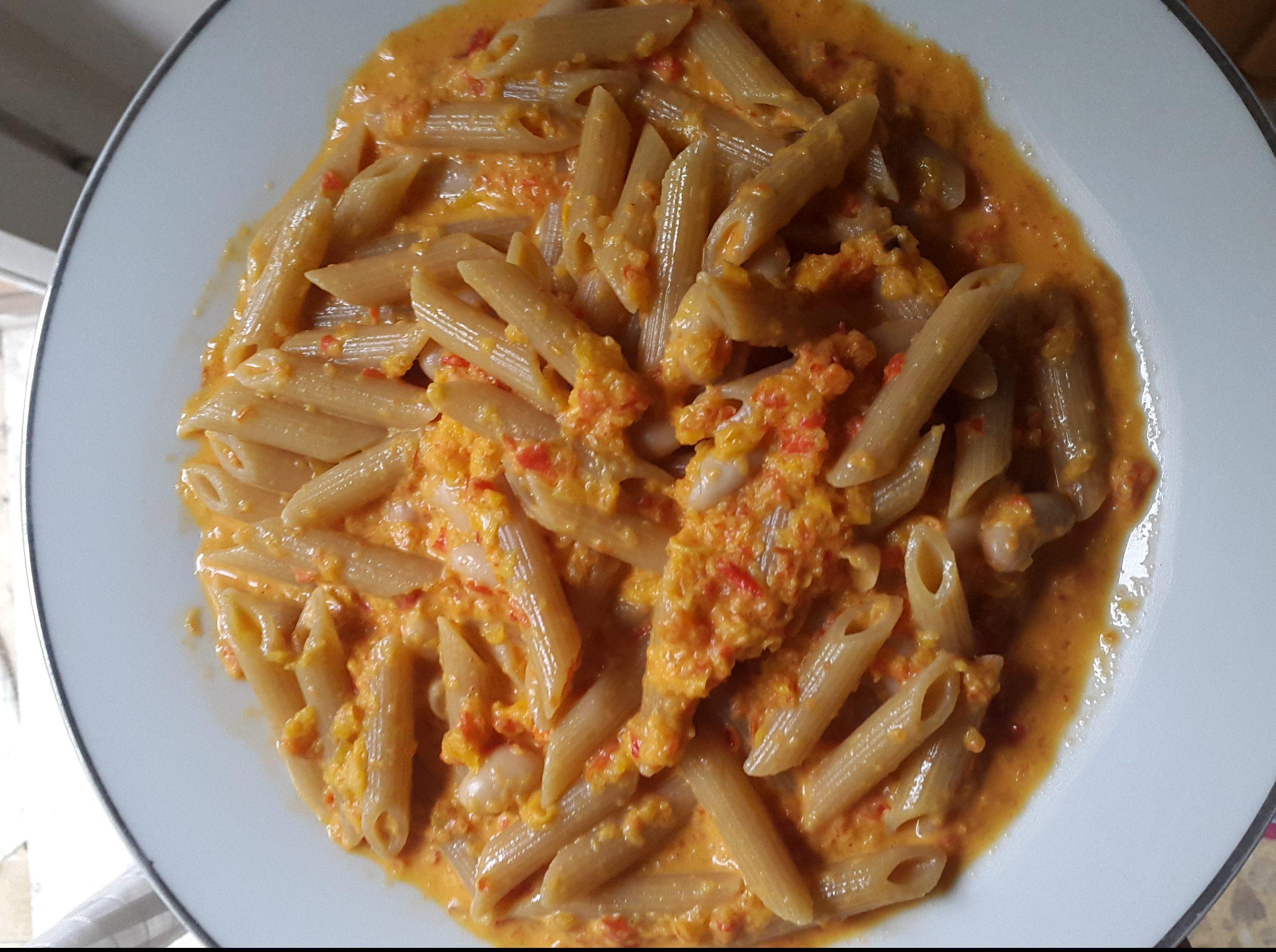 pasta vegan peperoni