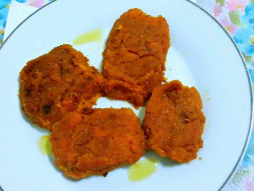 Burger di carote e peperoni -vegan-
