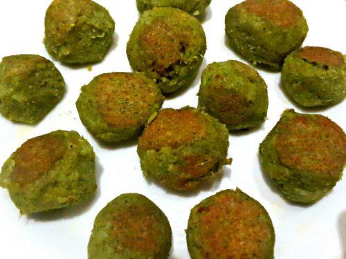 Polpette verdi di broccoli e bietole -vegan-
