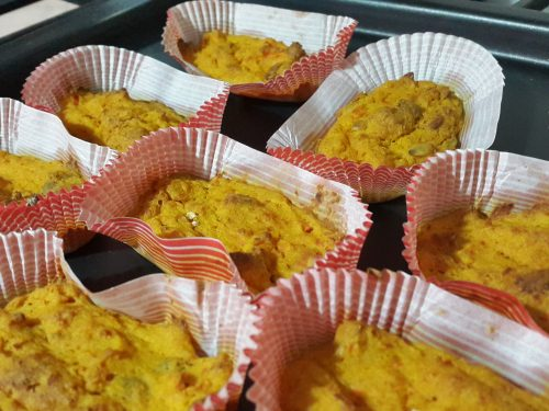 Plum cakes salati alla zucca e carote -vegan-