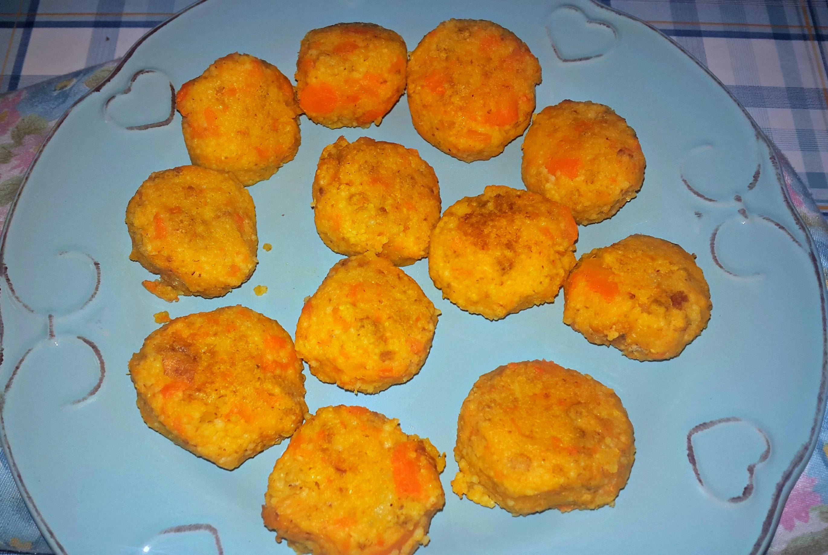 Polpette di carote con cous-cous -vegan-