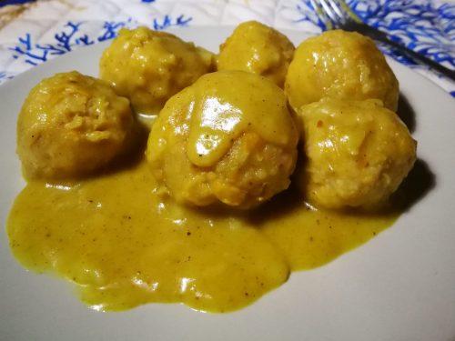 Polpette di ceci in crema di curry