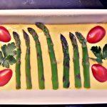 Plumcake asparagi, grana e pomodorini