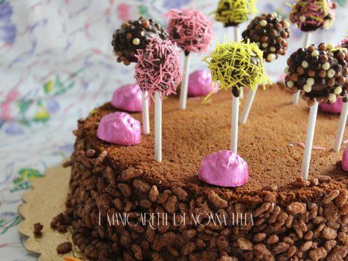 Torta lollipops al cioccolato