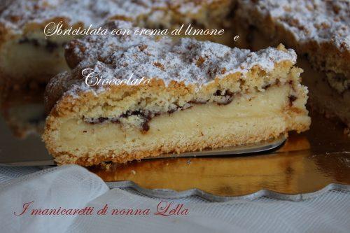 Sbriciolata con crema al limone e cioccolato