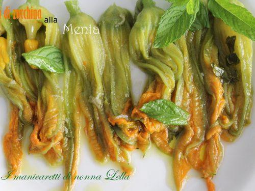 Fiori di zucchina alla menta