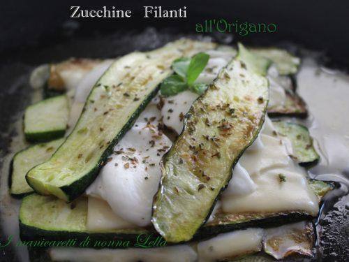 Zucchine filanti all'origano