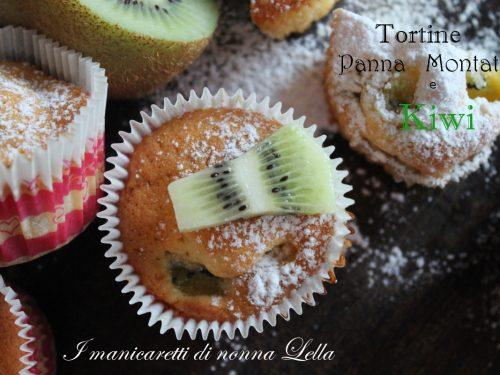 Tortine panna montata e kiwi