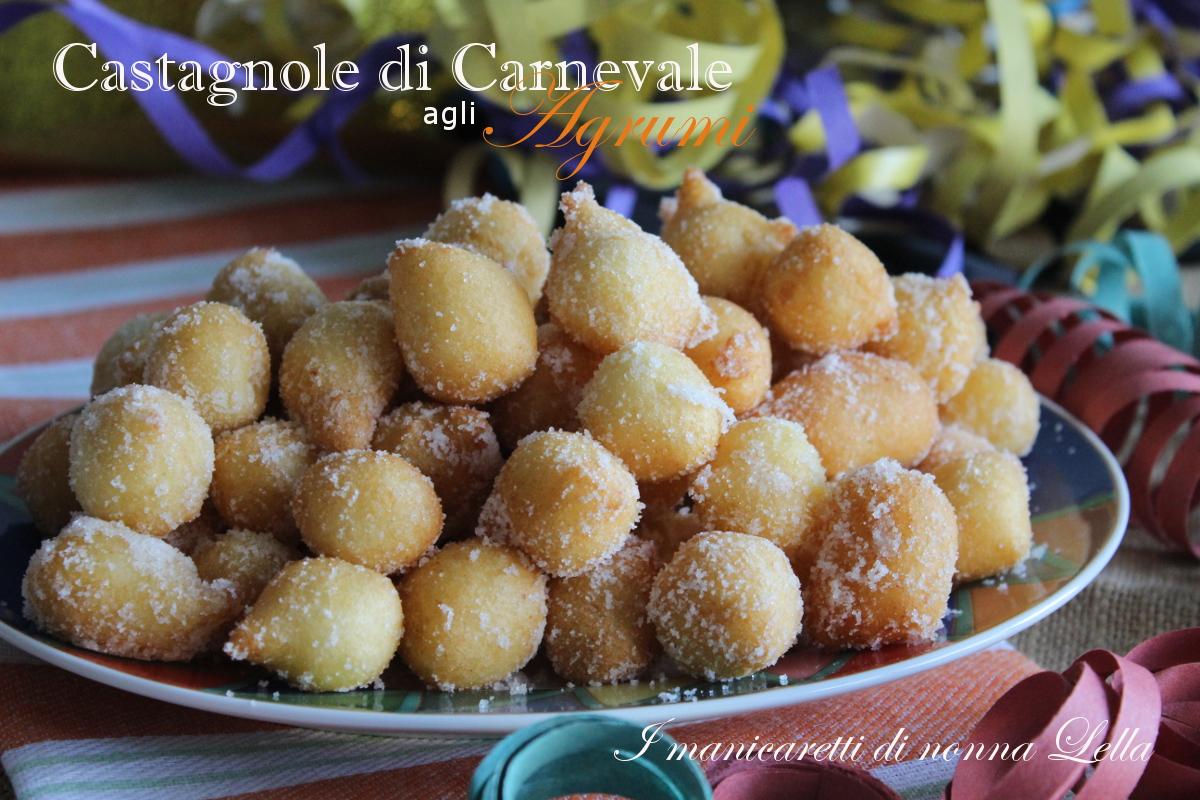 Castagnole di Carnevale agli agrumi