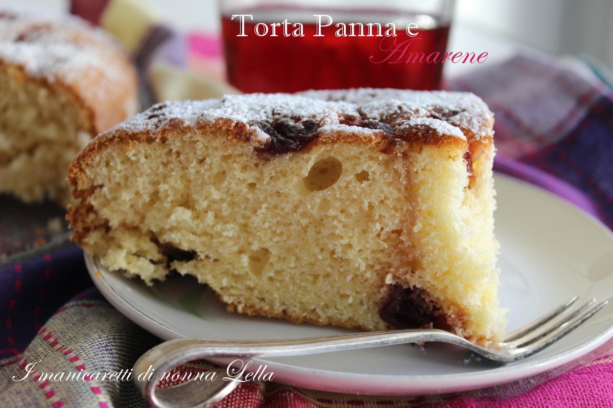 torta panna e amarene