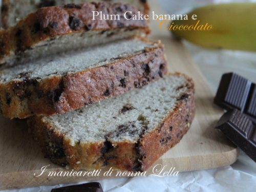 Plum cake banana e cioccolato