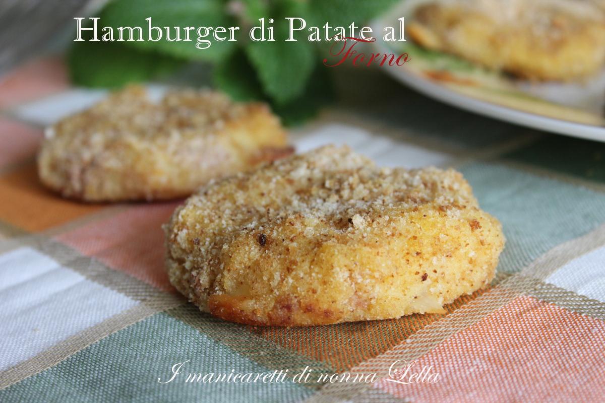 Hamburger di patate al forno