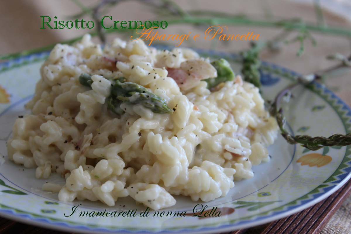 Risotto cremoso asparagi e pancetta