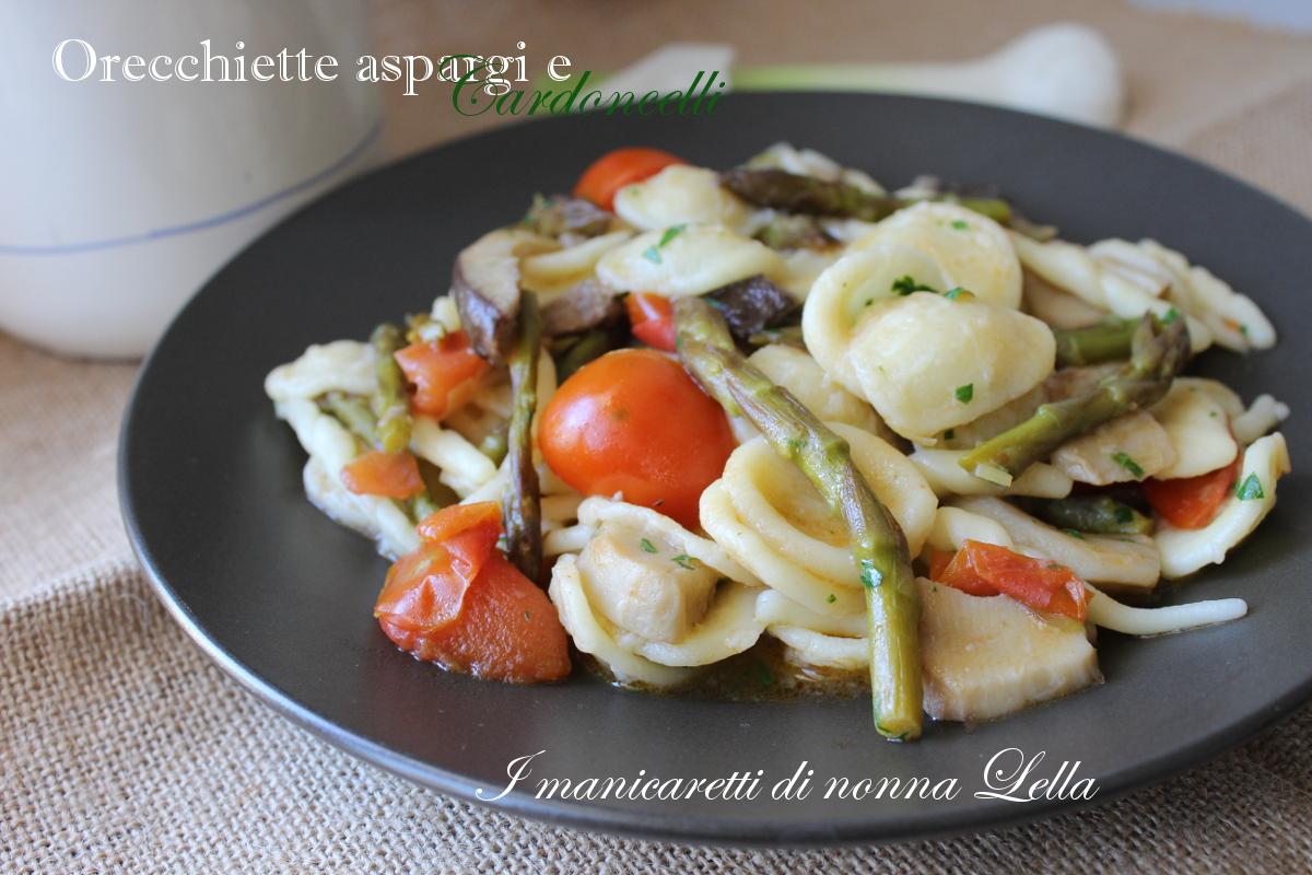 Orecchiette asparagi e cardoncelli