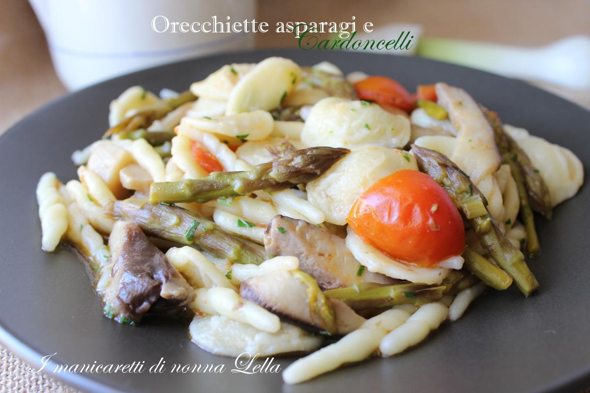 aoarecchiette asparagi e cardoncelli