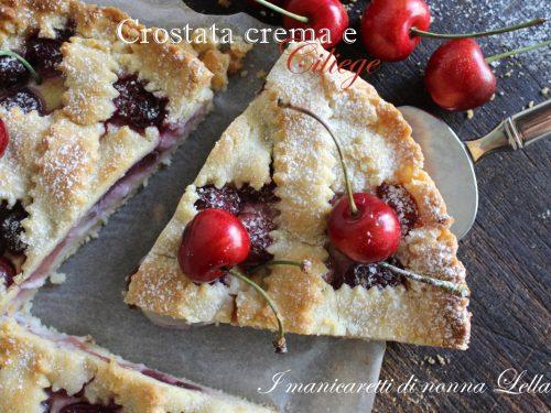 Crostata crema e ciliege