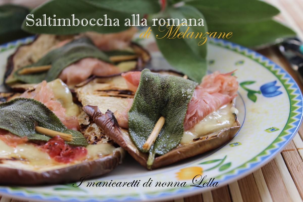 Saltimbocca alla romana di melanzane