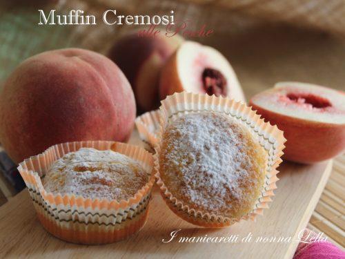 Muffin cremosi alle pesche