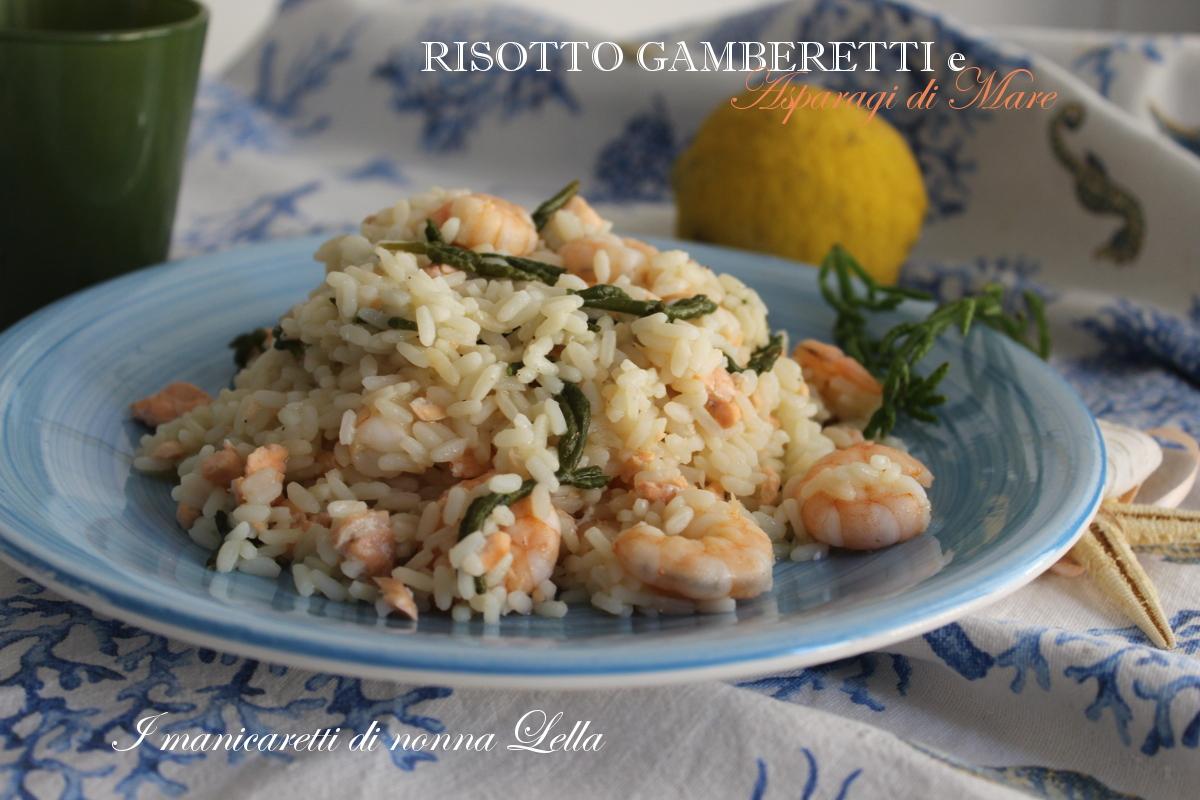 Risotto gamberetti e asparagi di mare
