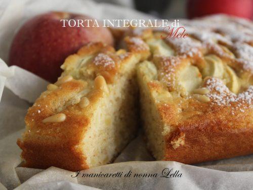 Torta integrale di mele