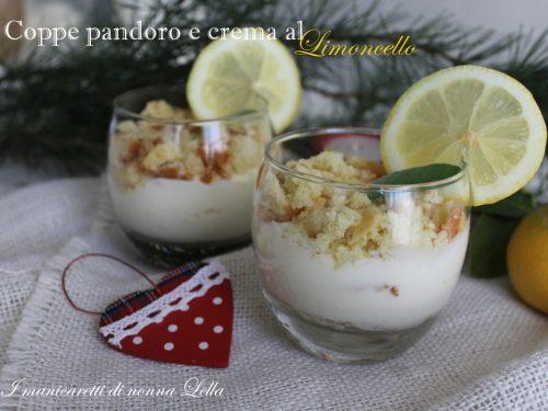 Coppe pandoro e crema al limoncello