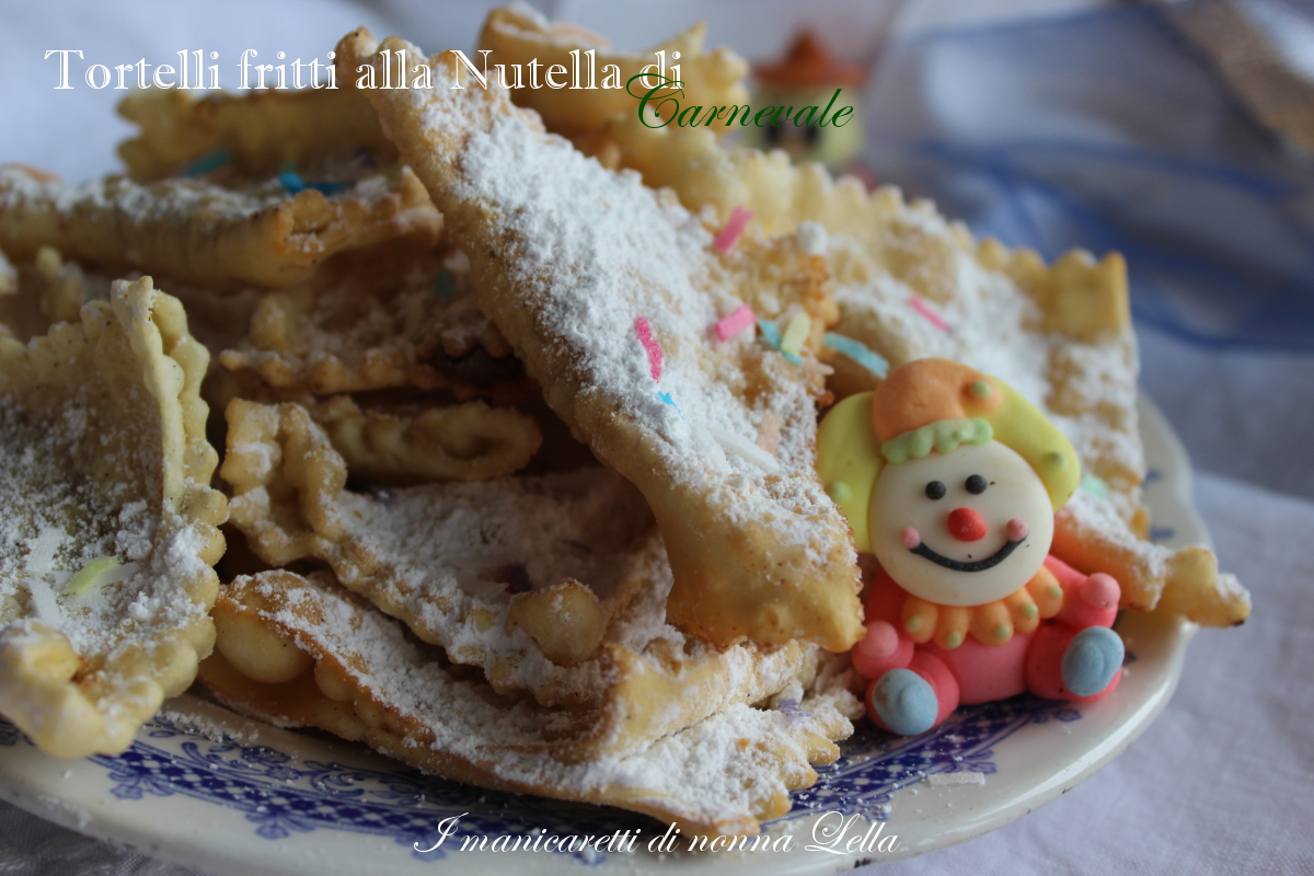 Tortelli fritti alla Nutella di Carnevale