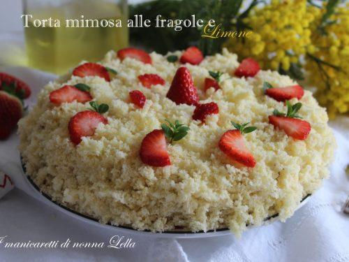 Torta mimosa alle fragole e limone