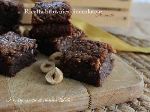 Ricetta brownies cioccolato e nocciole