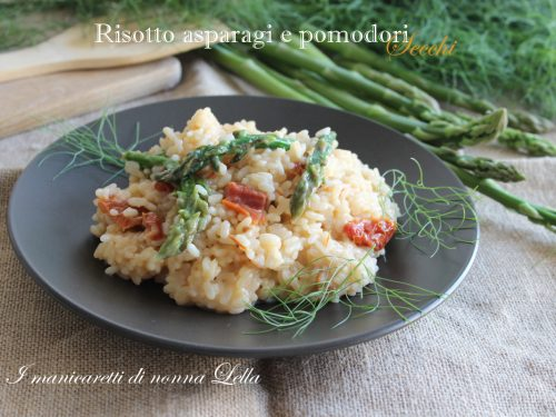 Risotto asparagi e pomodori secchi