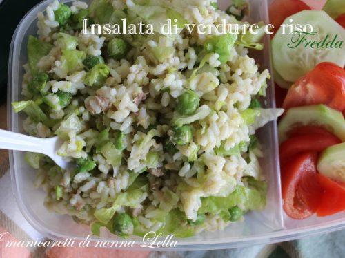 Insalata di verdure e riso fredda