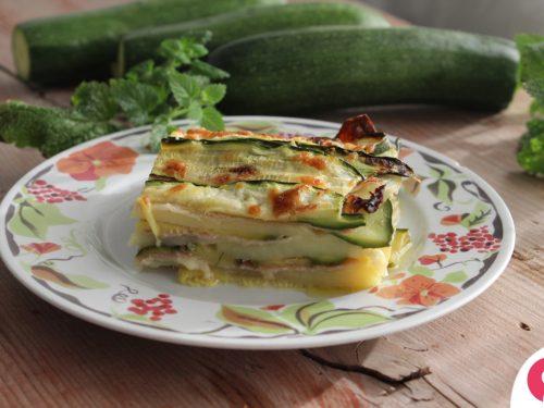 Parmigiana zucchine e patate bianca