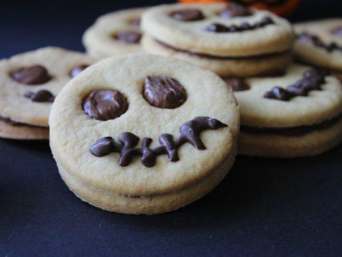 Facce da mostro biscotti per Halloween