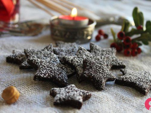 Biscotti stella di Natale al cioccolato