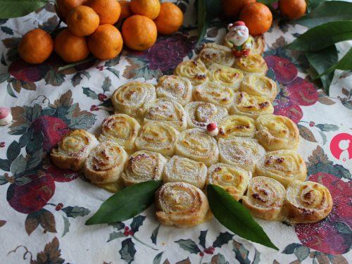 Albero di Natale con crema alle clementine