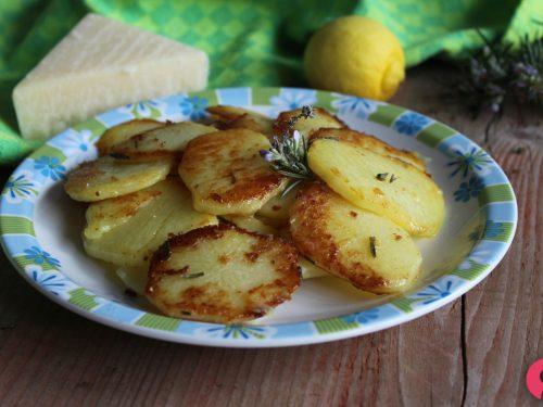 Patate al parmigiano croccanti in padella