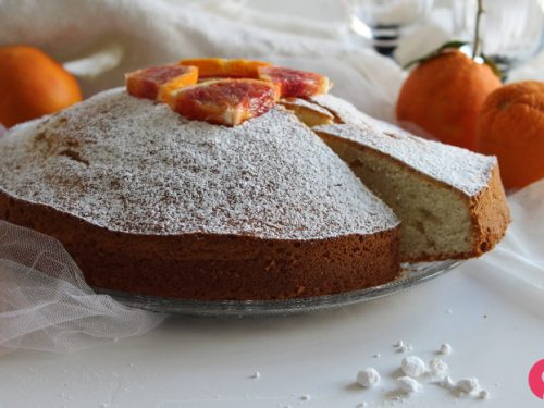 Torta arancia e yogurt soffice