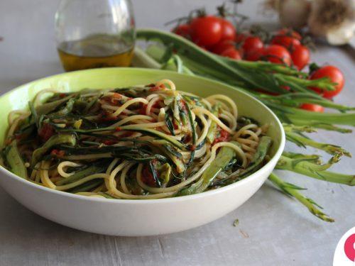 Spaghetti con la catalogna ricetta pugliese