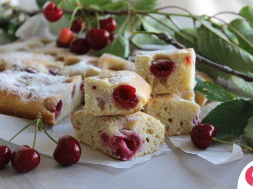 Torta Bertolina alle ciliegie