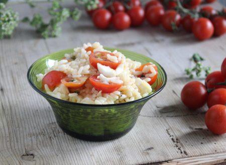 Riso alla pizzaiola insalata fredda insalata di riso