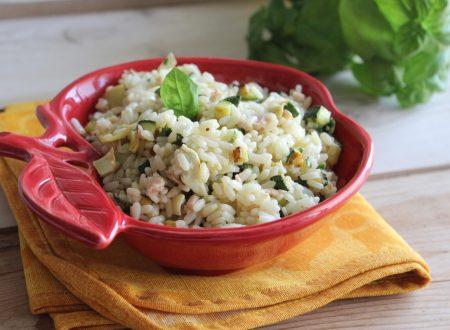 Ricetta insalata di riso fredda zucchine, tonno e carciofi