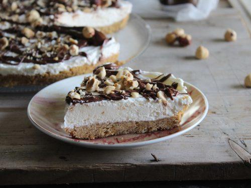 Cheesecake Nutella e nocciole senza colla di pesce