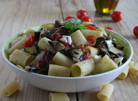 Pasta all'ortolana light con verdure grigliate