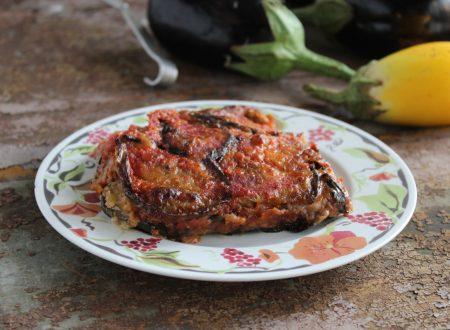 Parmigiana cremosa di melanzane al forno