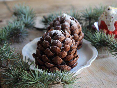 Ricetta pigne dolci al cioccolato senza cottura regalo natalizio